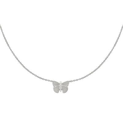 Ketting My Butterfly zilver zilveren dames ketting vlinder bedel rvs sieraden kopen