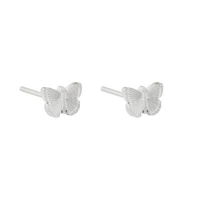 Oorbellen My Butterfly zilver zilveren dames oorbellen earrings vlinder bedel rvs sieraden bestellen