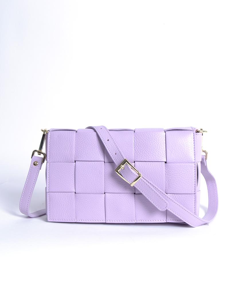 Leren-Tas-Big-Braided-lila paars-leer-look-a-like-gevlochten-leren-schoudertassen-met-binnentas-kopen-musthave