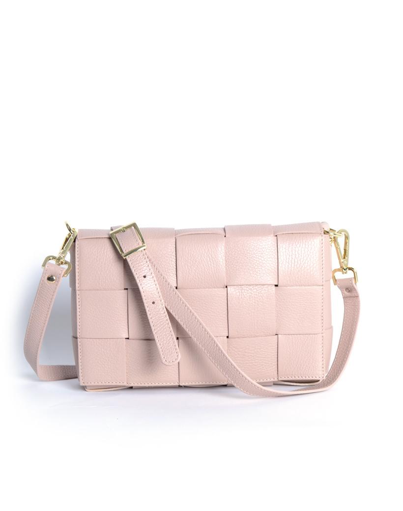 Leren-Tas-Big-Braided-nude roze -leer-look-a-like-gevlochten-leren-schoudertassen-met-binnentas-kopen-musthave