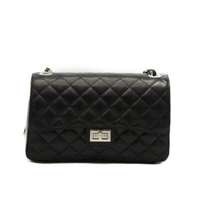 Leren-tas-coco-zwart-zwarte-Chanel-look-a-like-2.55-musthave-lederen-dames-tassen-kettingen-online-kopen