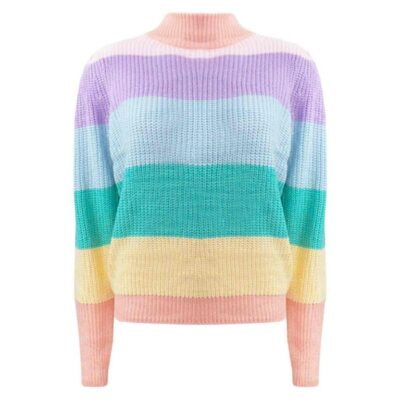 Rainbow Sweater regenboog trui truien damestrui col pastel kleuren damestruien dameskleding trendy kopen bestellen