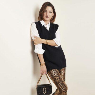 Spencer Simple V zwart zwarte dames trui truien spencers met v hals trendy kopen bestellen