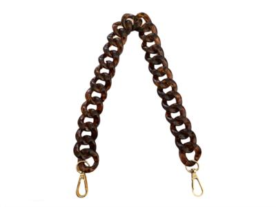 Tassen hengsel Brown Chain goud bruin bruine ketting tassen telefoon hengsels kopen bestellen