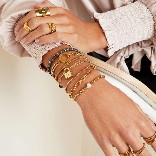 Gouden RVS dames trendy armbanden bracelets kopen bestellen kopen