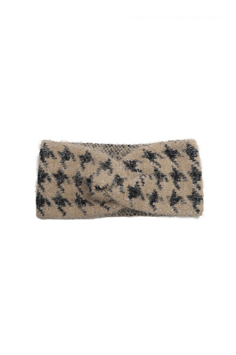 Haarband Pied Le Poule grijs grijze zwart fashion print haarbanden dames vrouwen headband kopen bestellen winter accessoires