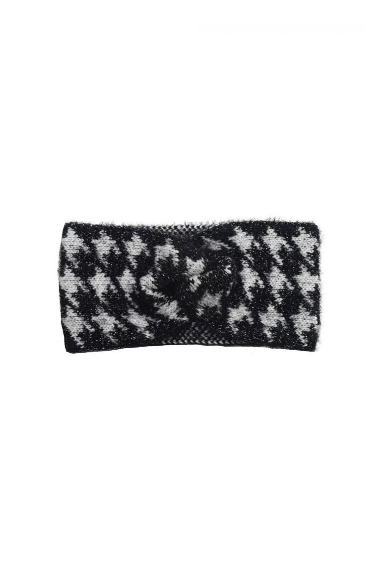 Haarband Pied Le Poule wit zwart fashion print haarbanden dames vrouwen headband kopen bestellen winter accessoires