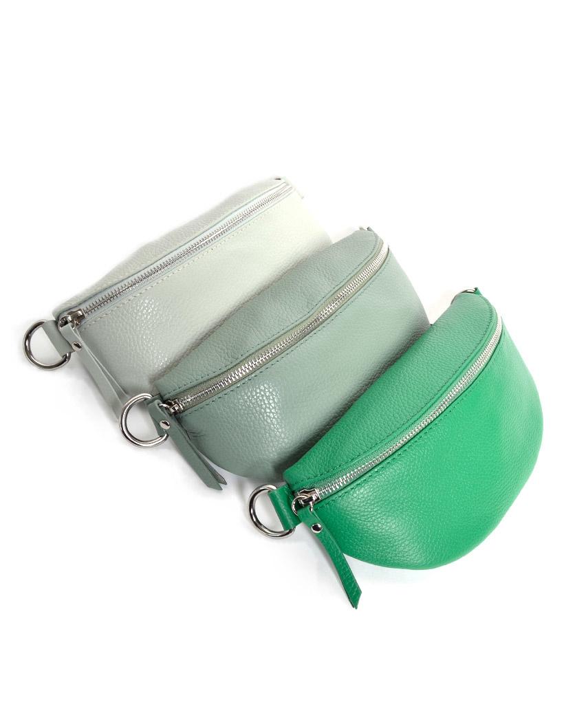 Leren-Schoudertas-Faya-groen fel groene mos groene simpele-crossbody tassen buideltassen schoudertas-rits-giuliano-tassen-online-kopen-bestellen-goedkope-lederen-tassen