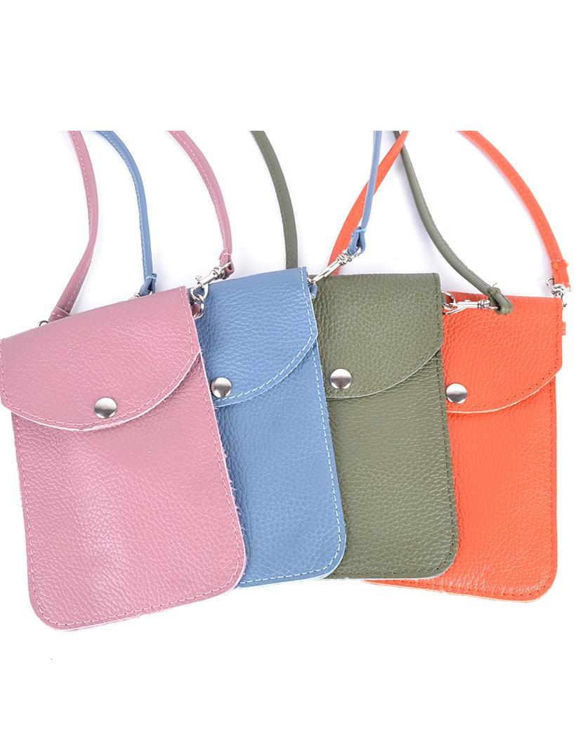 Leren Telefoontasje Simpel beige creme schoudertasjes leder handige giuliano tas kopen bestellen lederen-schoudertasje-lang-1-vak
