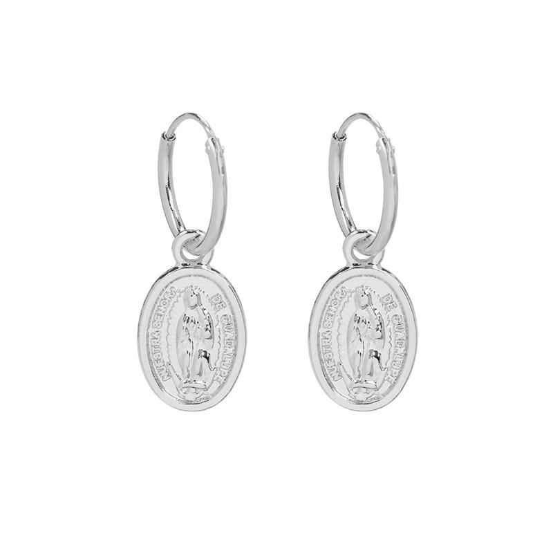 Oorbellen Saint-Mary-zilver-zilveren-dames heilige maria oorbel kopen yehwang sieraden bestellen
