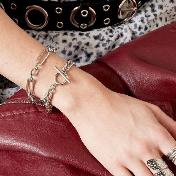 Schakelarmband Dublin zilver zilveren brede stoere dames armbanden trendy yehwang sieraden kopen bestellen