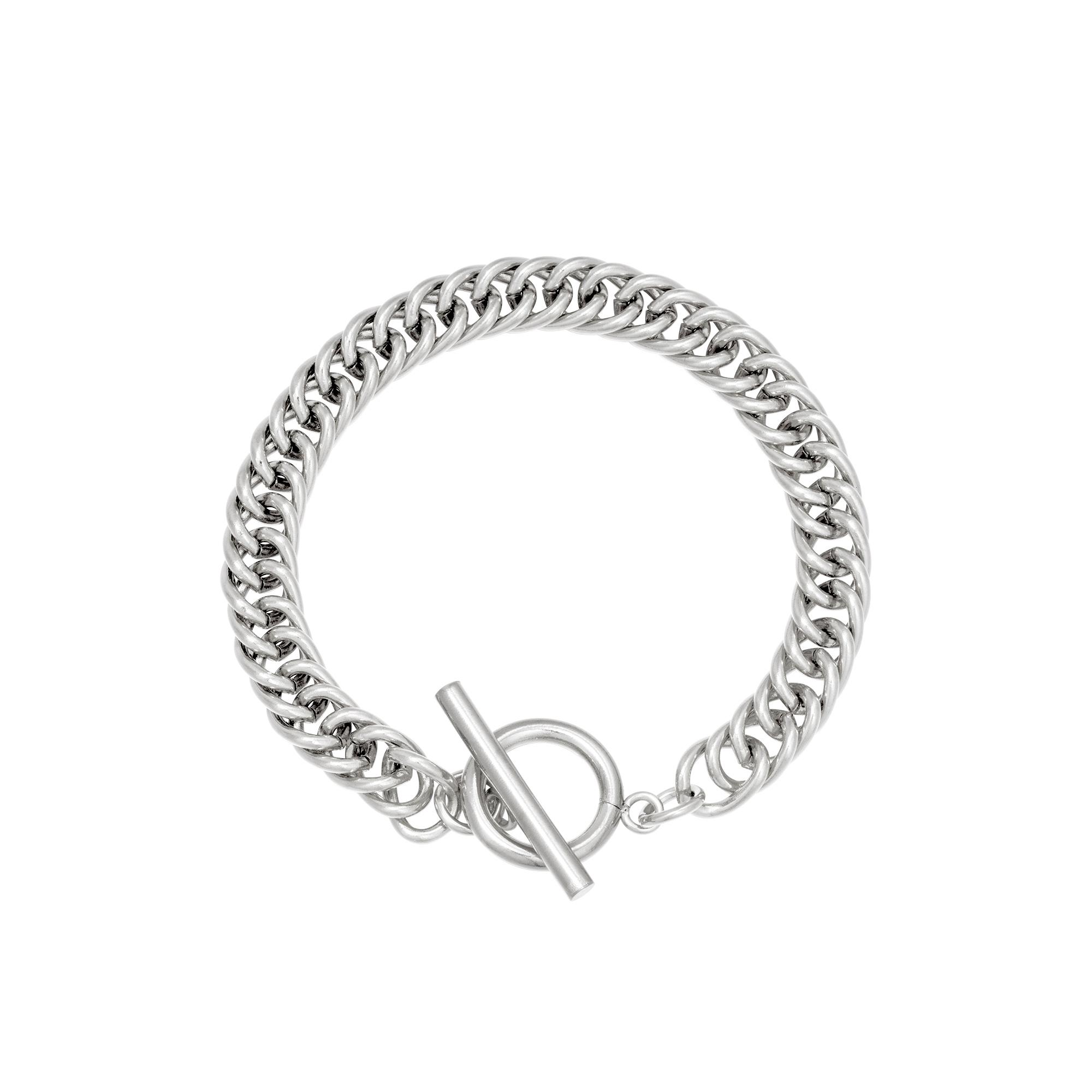 Schakelarmband Dublin zilver zilveren brede stoere dames armbanden trendy yehwang sieraden kopen