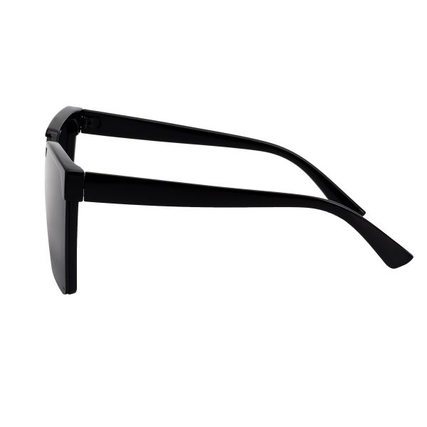 Zonnebril Like a Boss zwart zwarte stoere chique dames zonnebrillen trends fashion yehwang kopen bestellen side