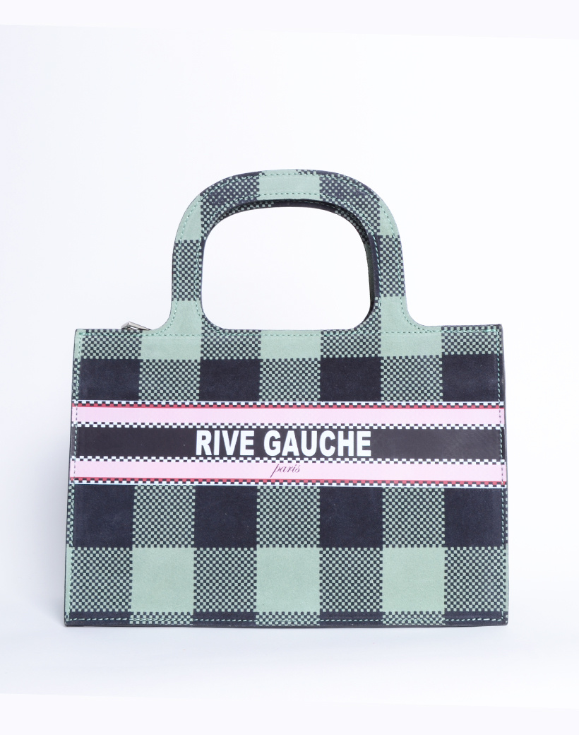 Handtas Nubuck Rive Gauche paris mint groen groene lederen leer nubuck look a like it bags kopen bestellen giuliano