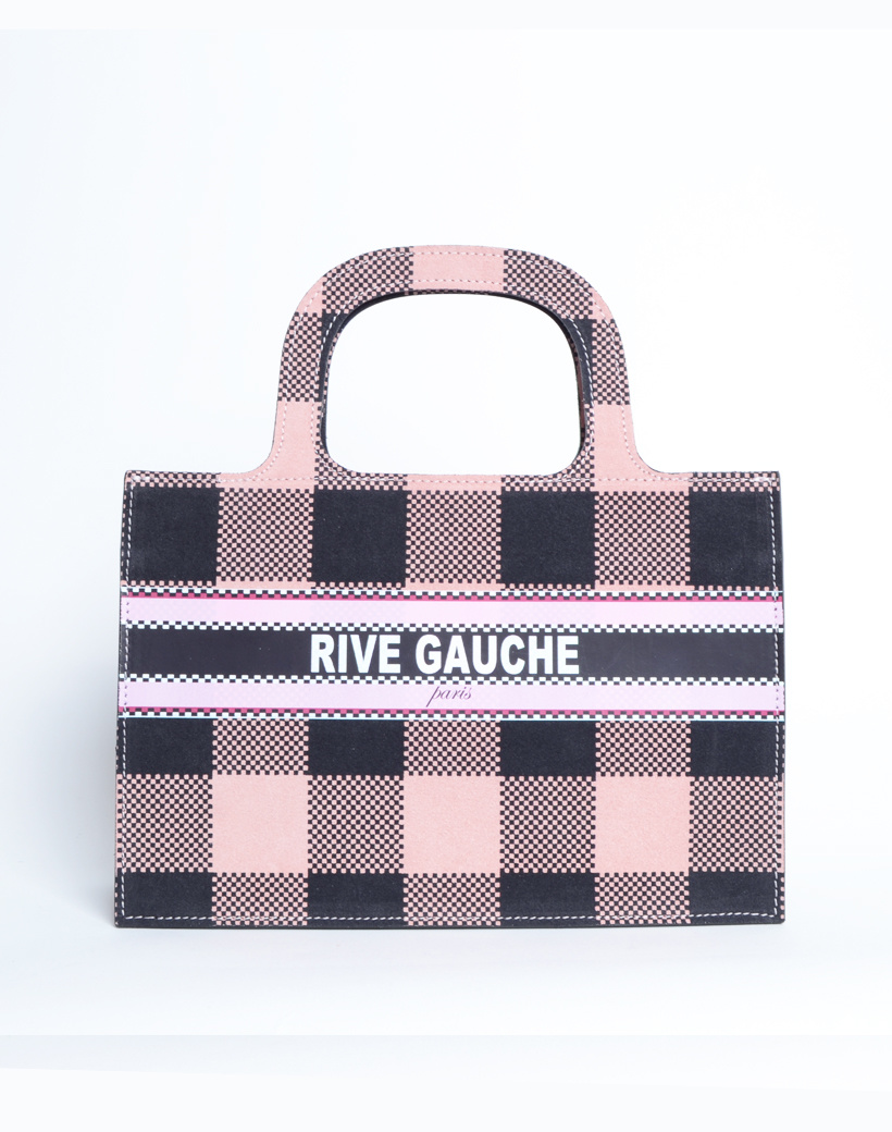 Handtas Nubuck Rive Gauche paris roze pink lederen leer nubuck look a like it bags kopen bestellen giuliano