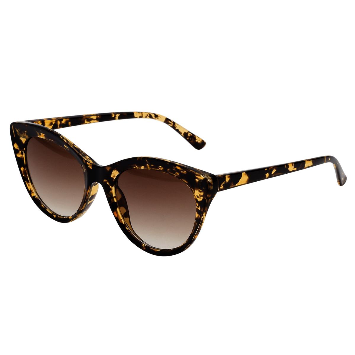 Zonnebril Summertime bruin bruine kat vorm zonnebrillen trendy sunglases kopen bestellen fashion