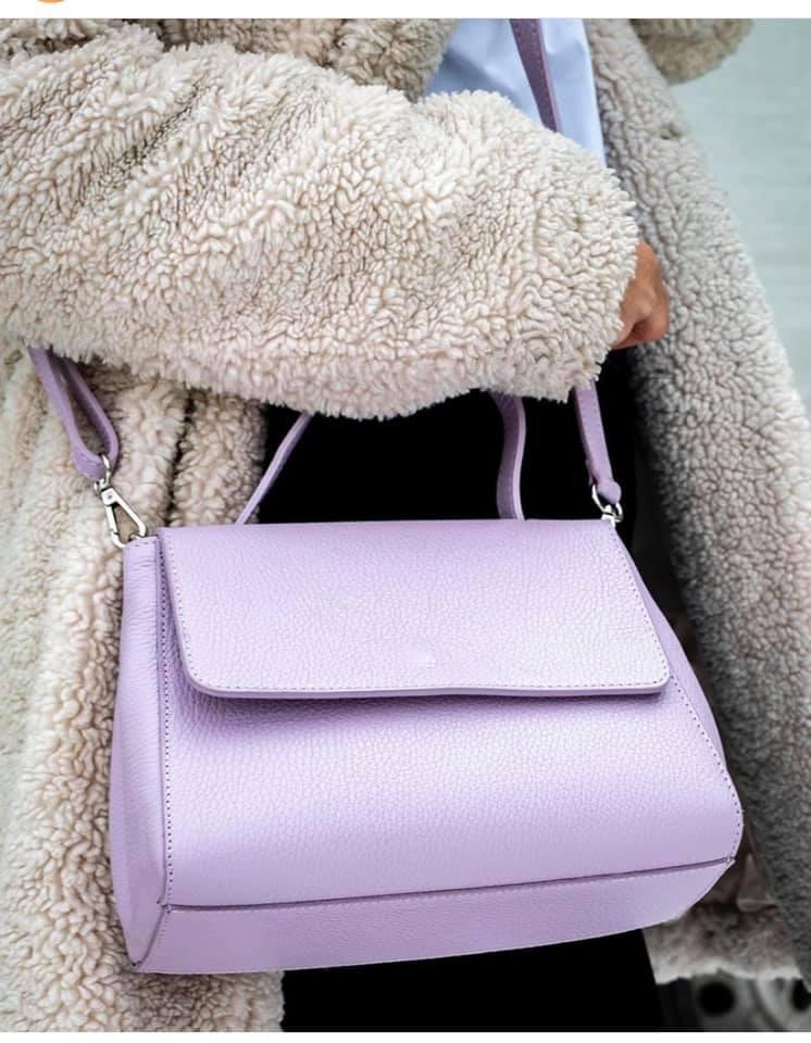 Leren Handtas Always Classy lila paarse paar slook a like lederen leer giuliano tassen trendy bags kopen bestellen