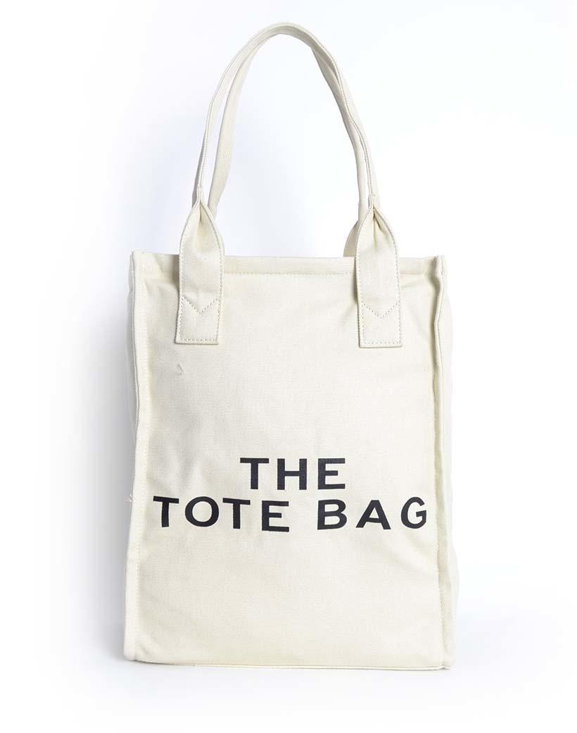 Canvas Shopper De Tote Bag beige nude trendy grote handige shoppers met tekst giuliano tassen kopen bestellen