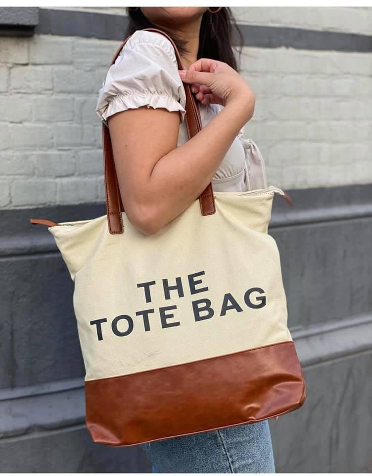 Canvas Shopper More Tote Bag camel trendy grote handige shoppers met tekst giuliano tassen kopen bestellen nu