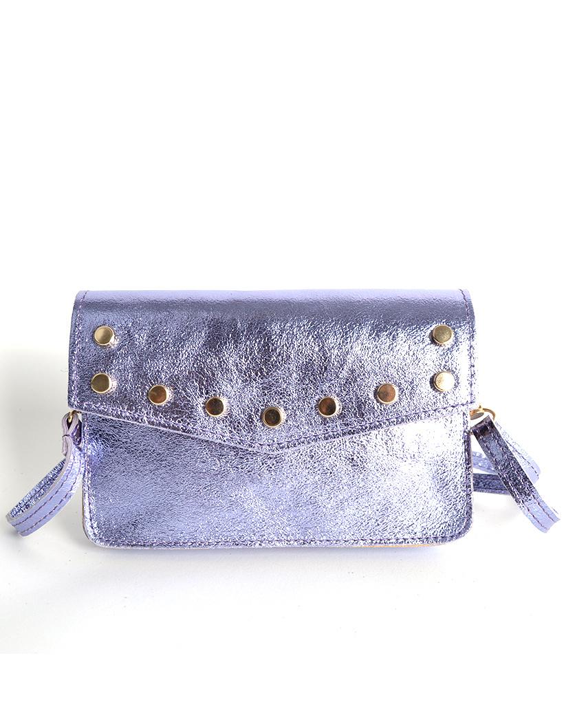 Leren-Belt-Bag-Studs-Metallic lila riemtassen-fannypacks-heuptassen-van-leder-leer-leren-met-studs-losse-riem