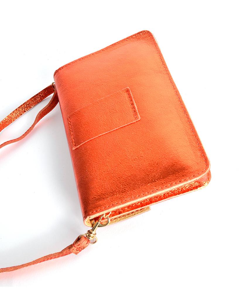 Leren-Belt-Bag-Studs-Metallic oranje riemtassen-fannypacks-heuptassen-van-leder-leer-leren-met-studs-losse-riem achter