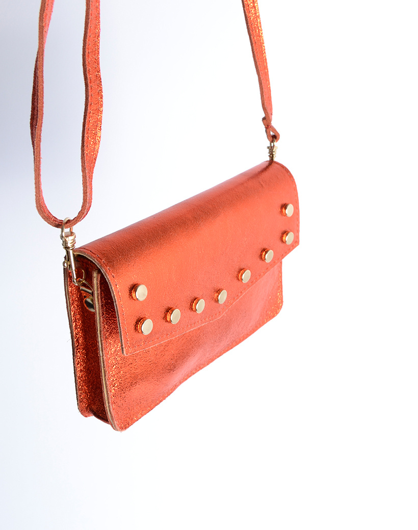 Leren-Belt-Bag-Studs-Metallic oranje riemtassen-fannypacks-heuptassen-van-leder-leer-leren-met-studs-losse-riem side