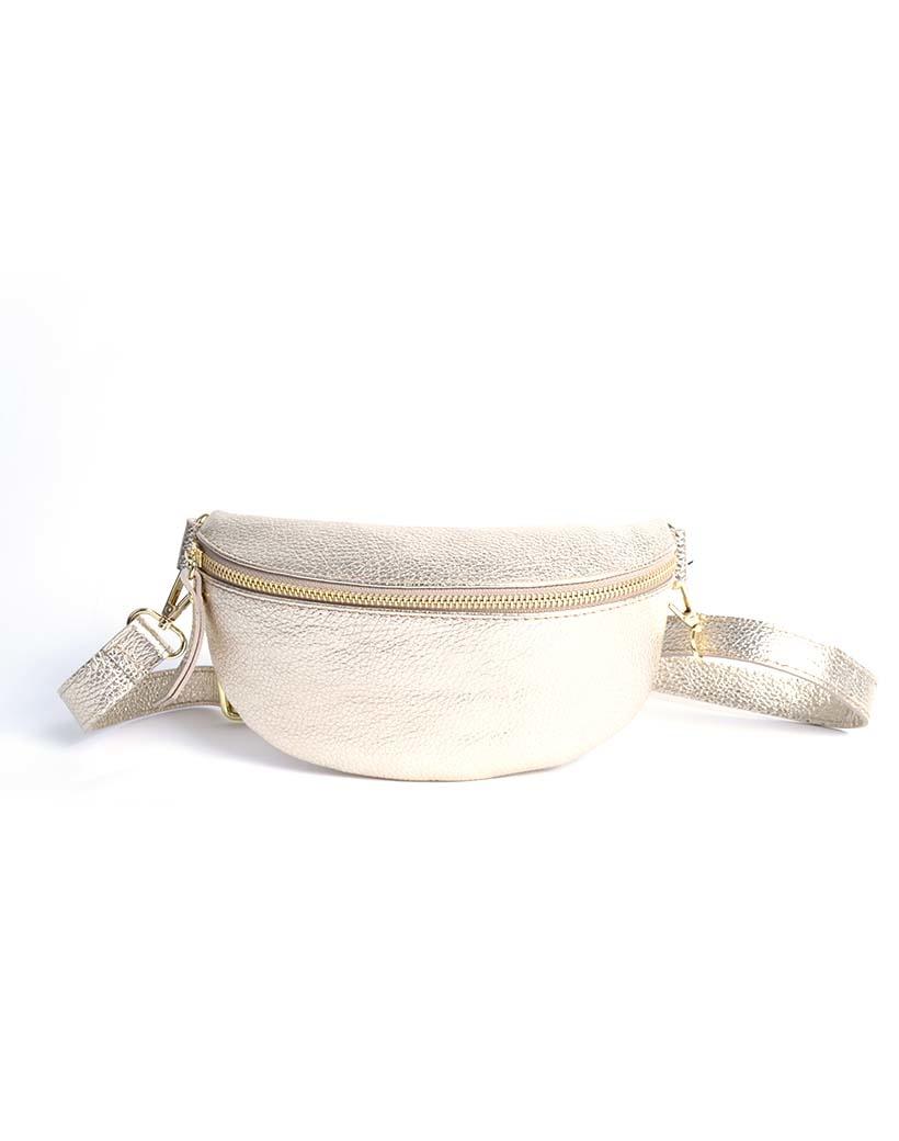 Leren-Schoudertas-Faya-Metallic goud gouden-trendy-lederen-schoudertassen-zilveren-rits-giuliano-tassen-kopen-online-trends bags