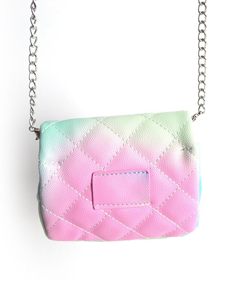 Schoudertasje Mini Flap Rainbow gekleurde kleine look a like riem tasjes en schoudertasjes kopen bestellen