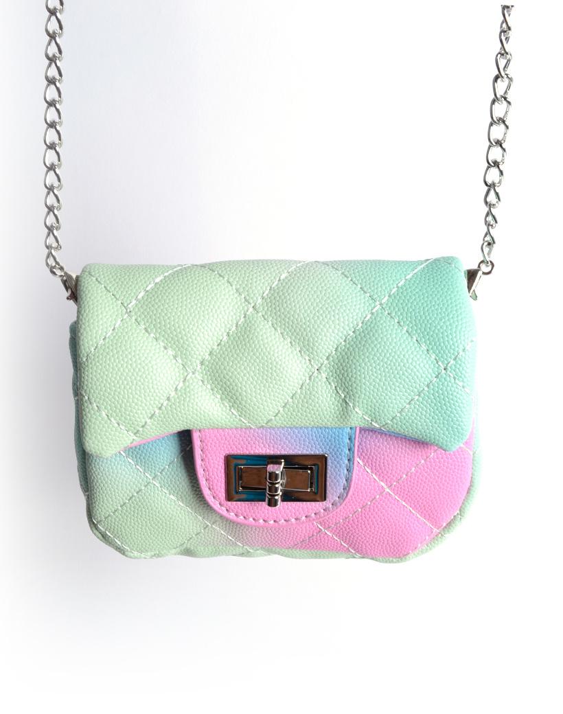 Schoudertasje Mini Flap Rainbow gekleurde kleine look a like riem tasjes en schoudertasjes kopen