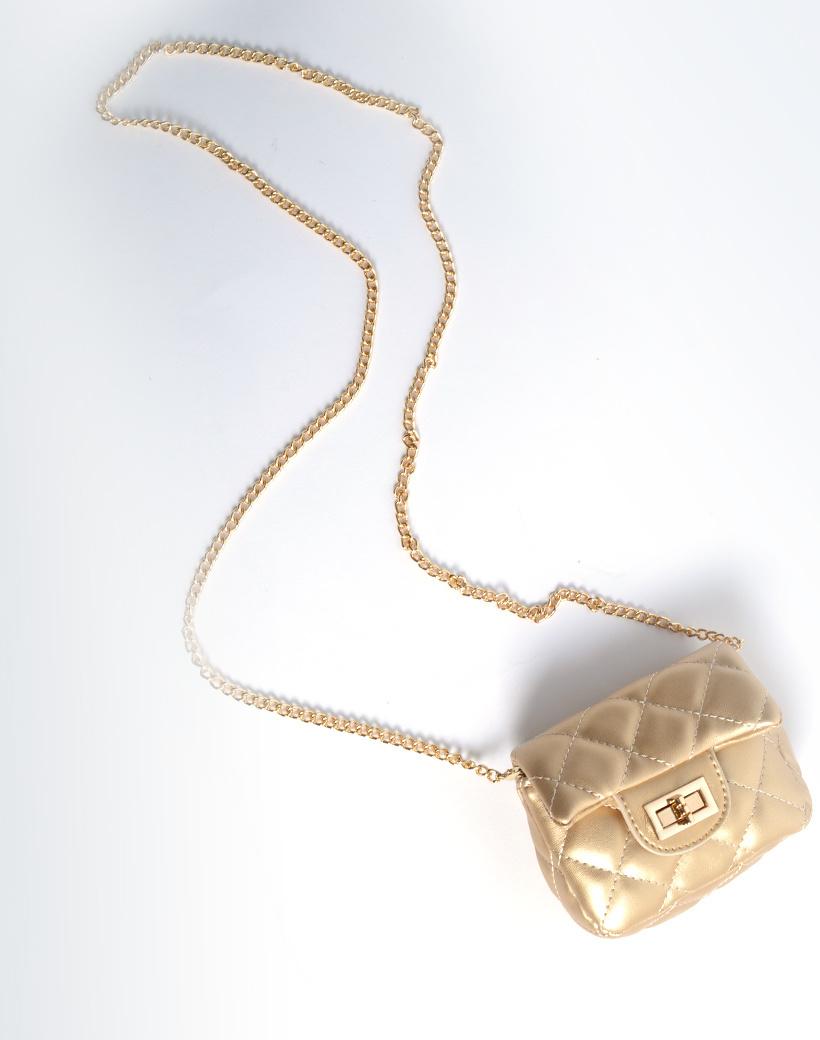 Schoudertasje Mini Flap goud gouden kleine look a like riem tasjes stiksels en schoudertasjes kopen bestellen