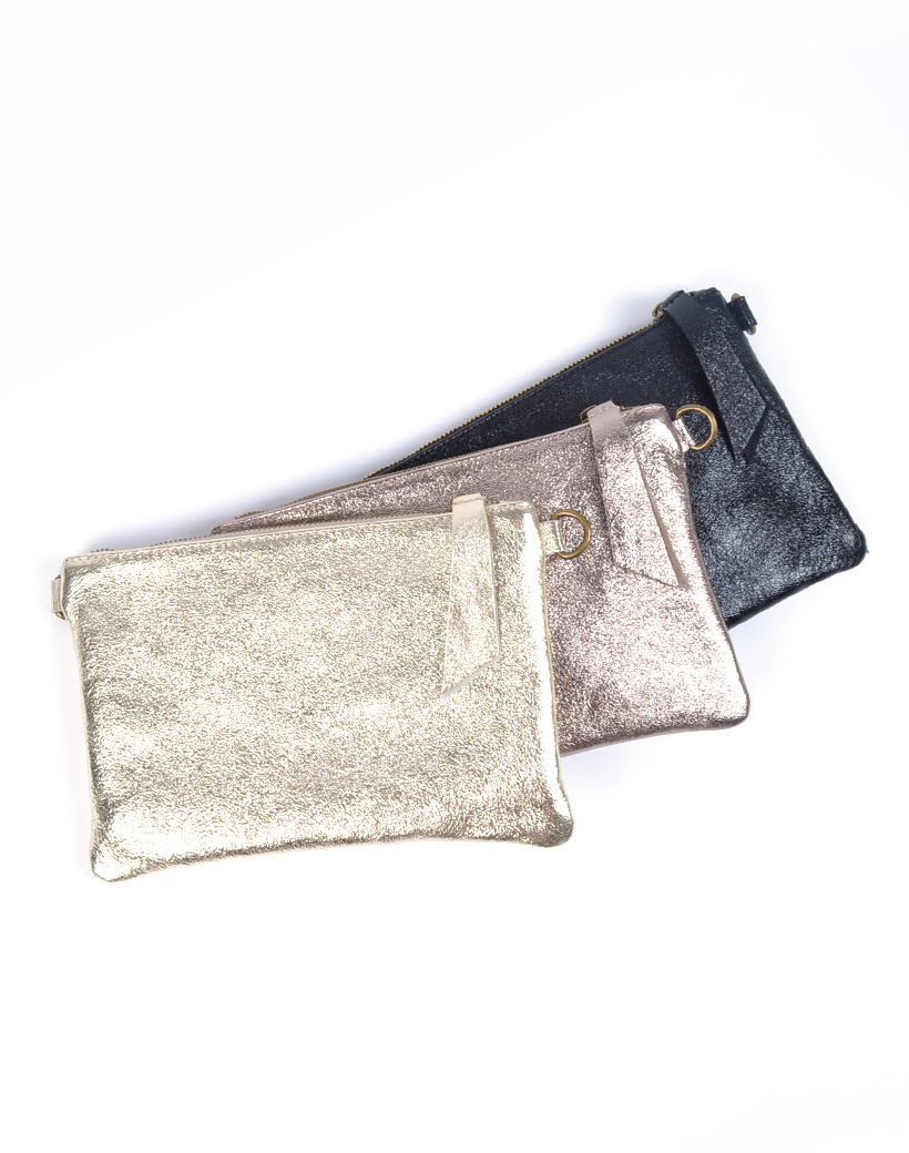 Suède Schoudertasje Metallic Shine trendy leren crossbody tassen dames tasjes giuliano kopen bestellen
