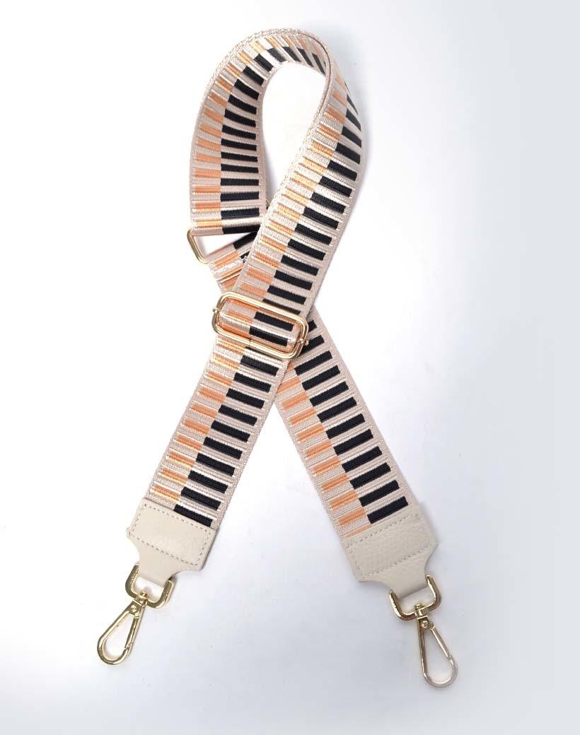 Tassenhengsel Pretty Piano beige zwart gekleurde bagstraps schouderbanden tassen giuliano kopen bestellen online