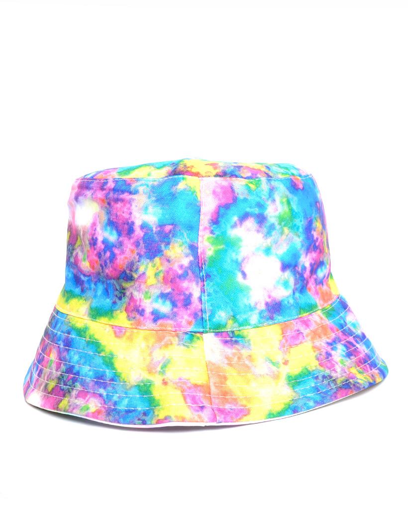 Visserhoedje Tie Die rainbow vel gekleurde hoedjes vissers hoedjes kopen petten pet vissershoedjes bestellen trendy musthaves achter