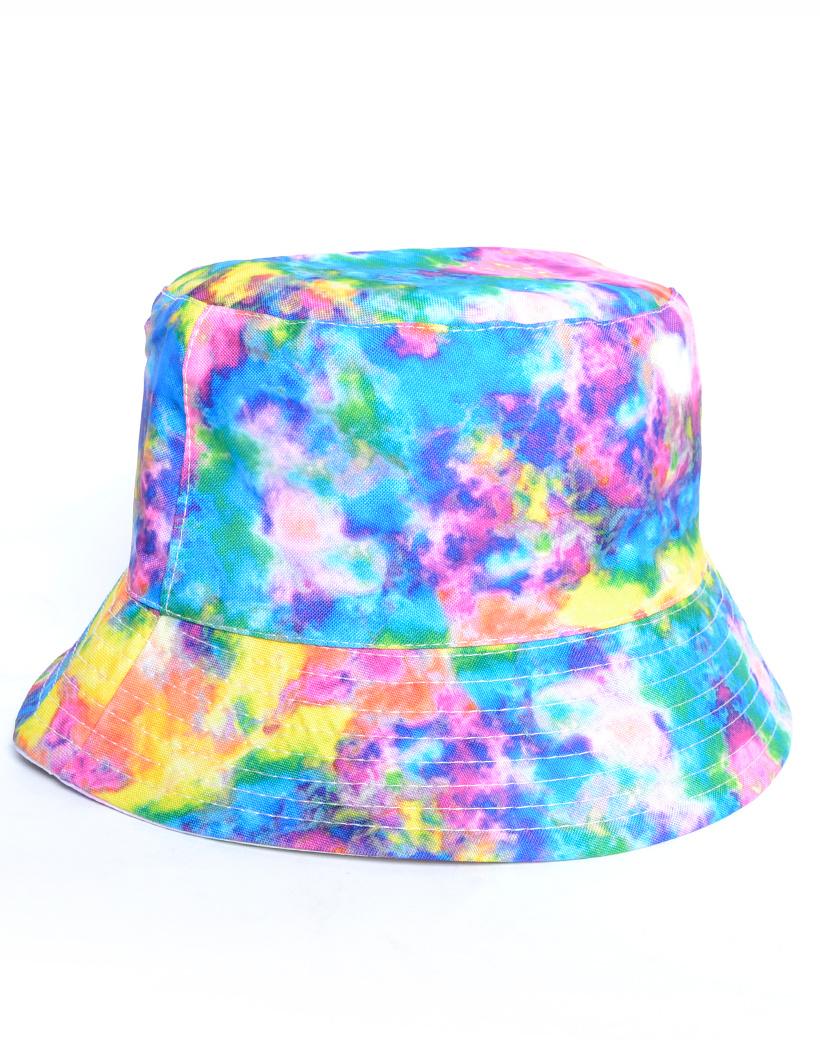 Visserhoedje Tie Die rainbow vel gekleurde hoedjes vissers hoedjes kopen petten pet vissershoedjes bestellen trendy musthaves