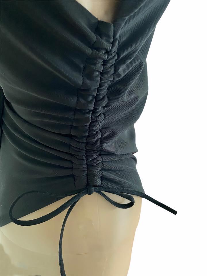 Zwart Badpak Summer zwarte dames badpakken veters aan de zijkanten verstelbaar sexy badpakken swinwear beachwear side