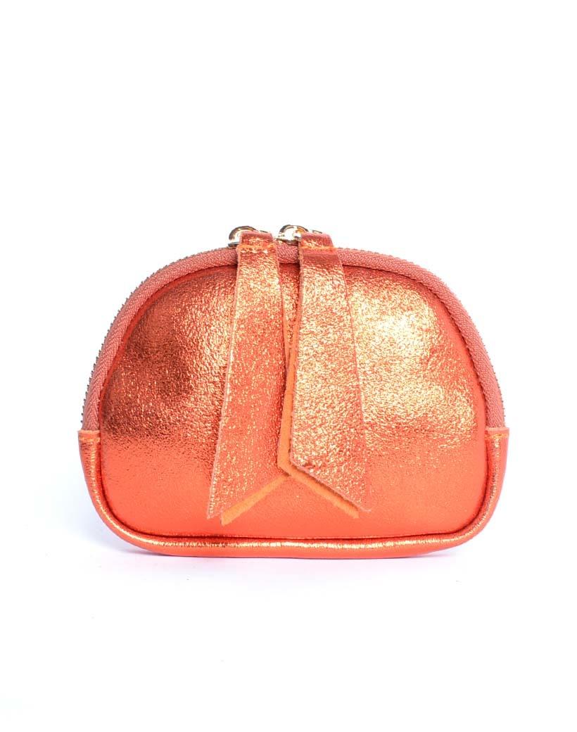 Leren Etui Metallic lila portemonnees portemonee leder rits felle metallic kleuren giuliano tassen kopen bestellen