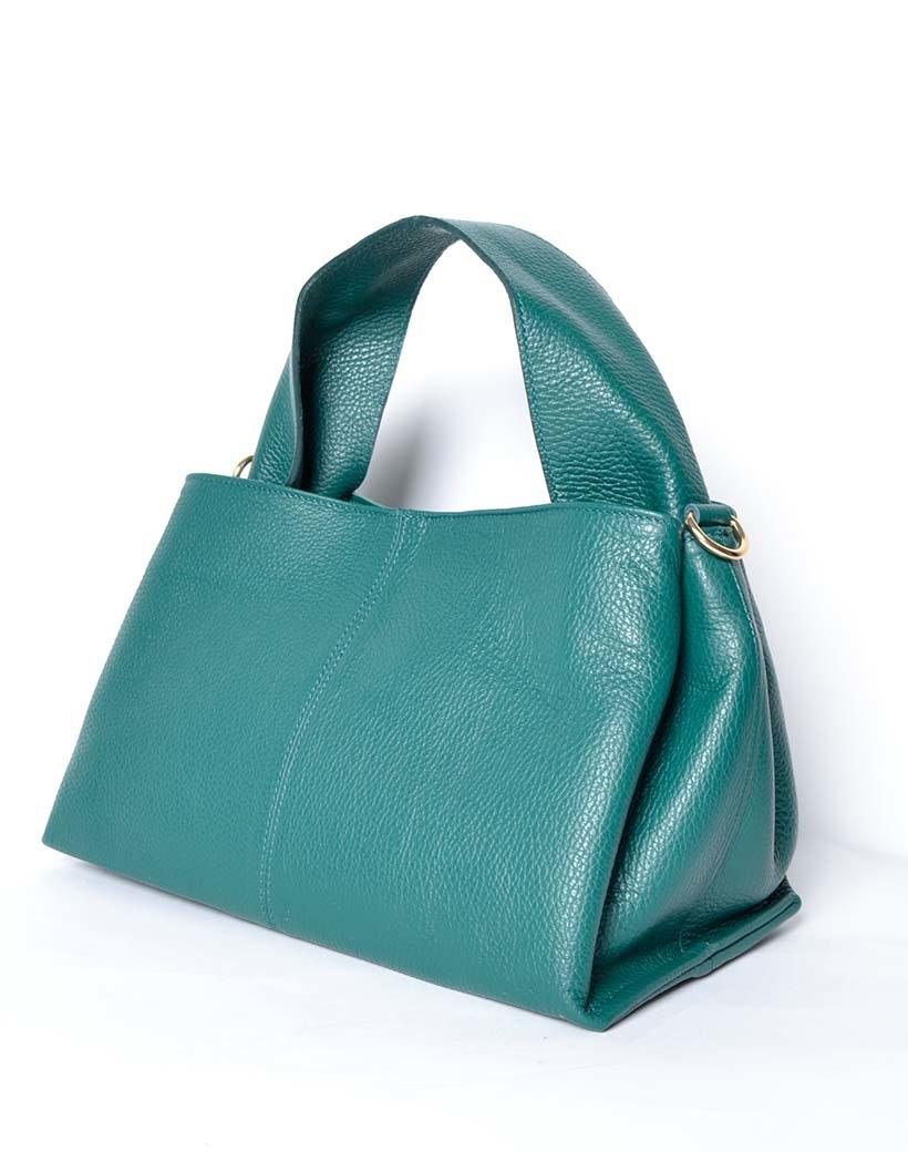 Leren Handtas Mimi groen groene lederen leer dames tassen trendy kopen bestellen giuliano side