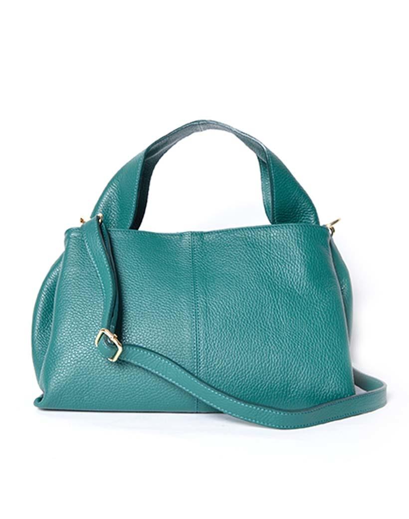 Leren Handtas Mimi groen groene lederen leer dames tassen trendy kopen bestellen giuliano