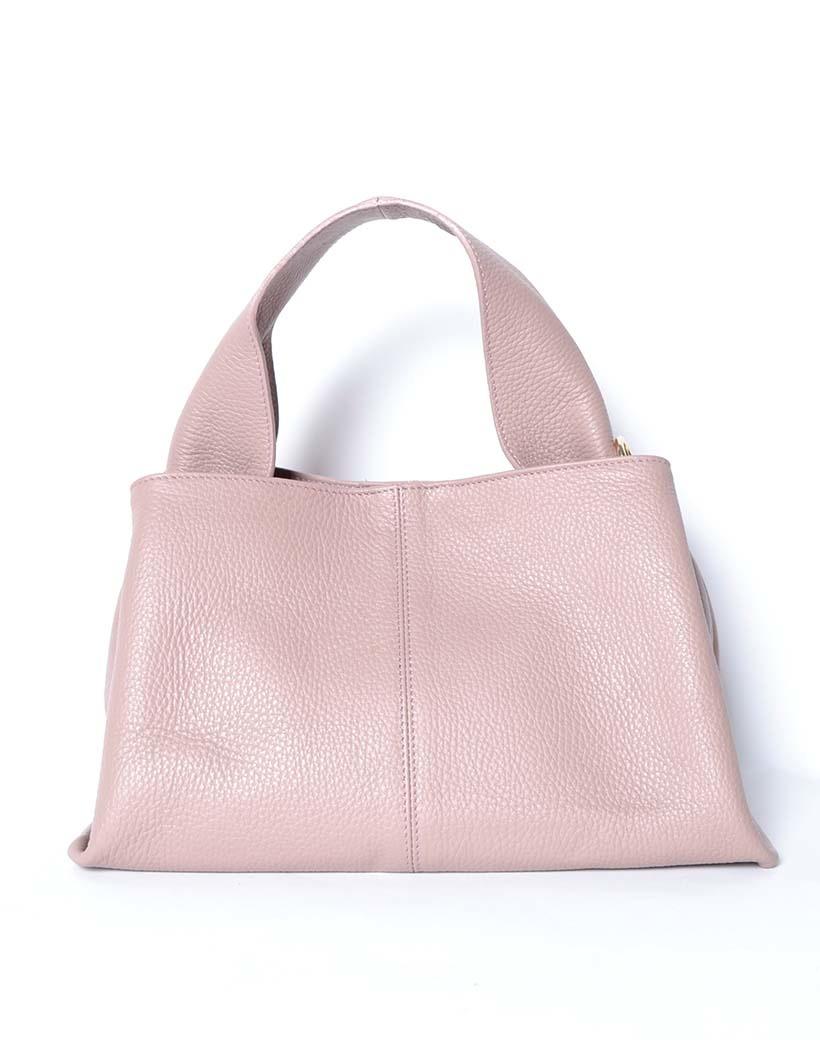 Leren Handtas Mimi nude roze lederen leer dames tassen kopen bestellen giuliano