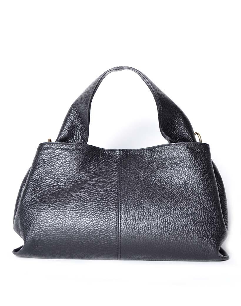 Leren Handtas Mimi zwart zwarte lederen leer dames tassen kopen bestellen giuliano