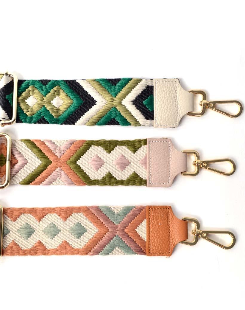 Tassenhengsel-Tapijt -trendy-tapijt print-bagstraps-losse-tassen-hengsels-roze-beige camel-kopen-fashion-giuliano-kopen-bestellen