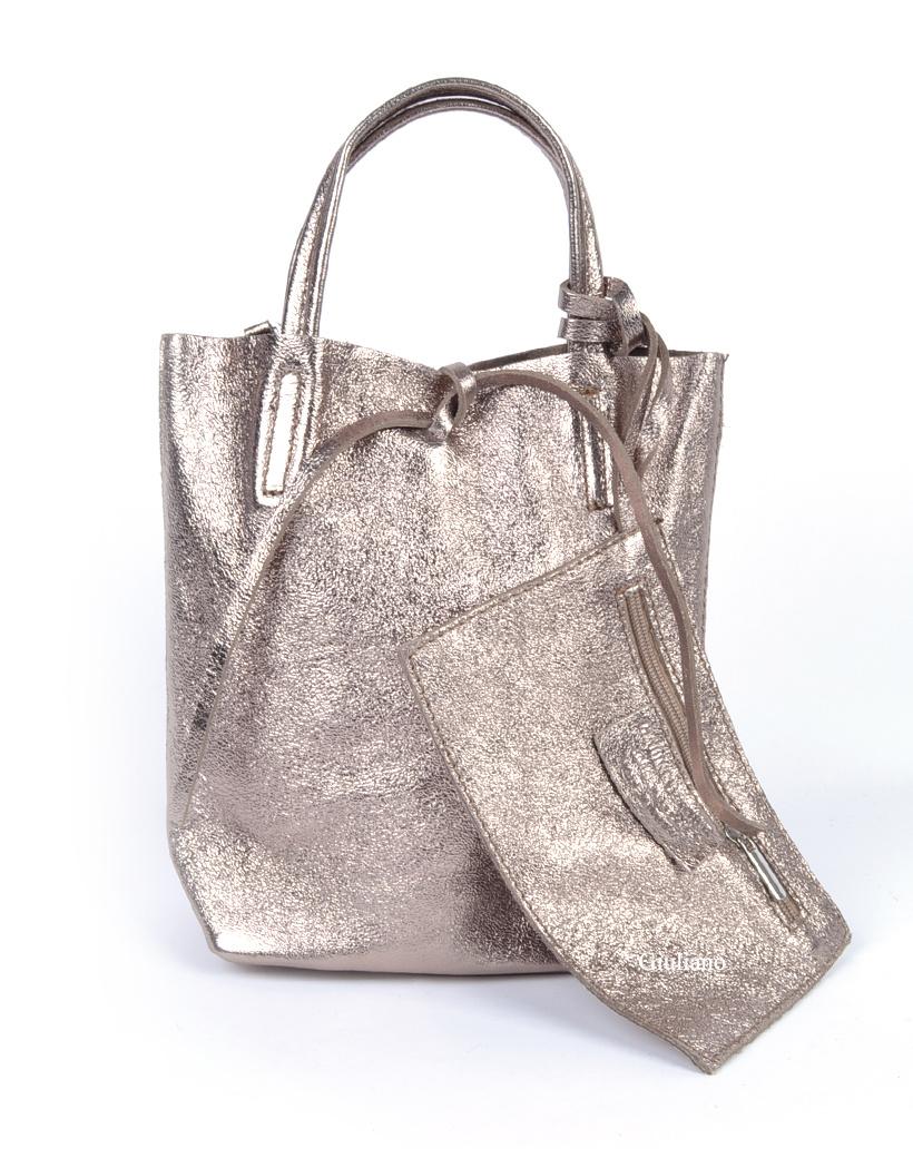 Leren Mini-Shopper-Simple-Metallic brons bronzen leren-tasjes-kleine shoppers met koordje-etui-kopen bestellen giuliano