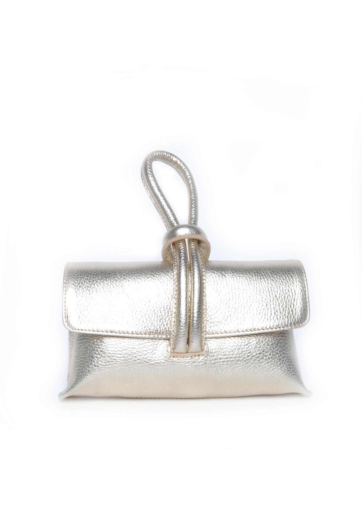 Leren Schoudertas Sandy goud gouden schoudertassen look a like tassen trendy musthave fashion tas giuliano kopen bestellen