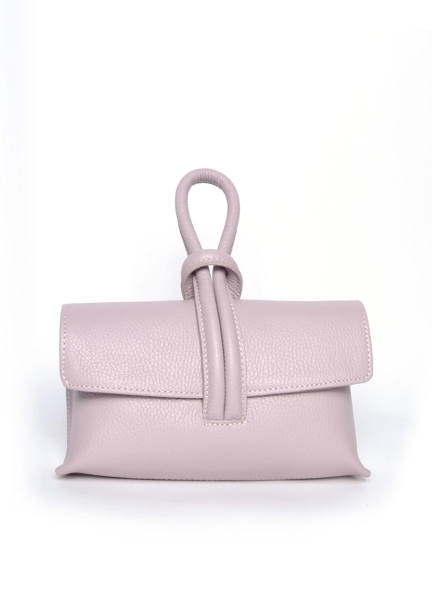 Leren Schoudertas Sandy nude roze schoudertassen look a like tassen trendy musthave fashion tas giuliano kopen bestellen