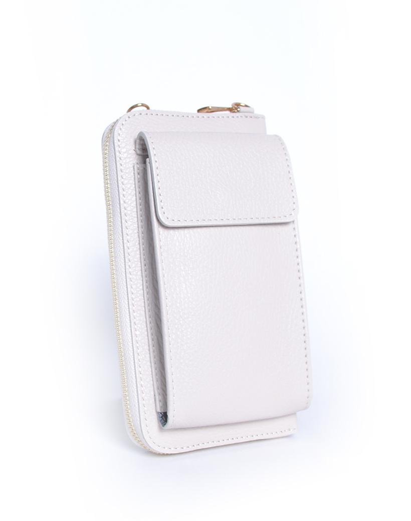 Leren-Telefoontasje-beige portemonnee-schoudertasje-handige-giuliano-tas-kopen-bestellen-lederen-schoudertasjes-lang-2-vakken-leer