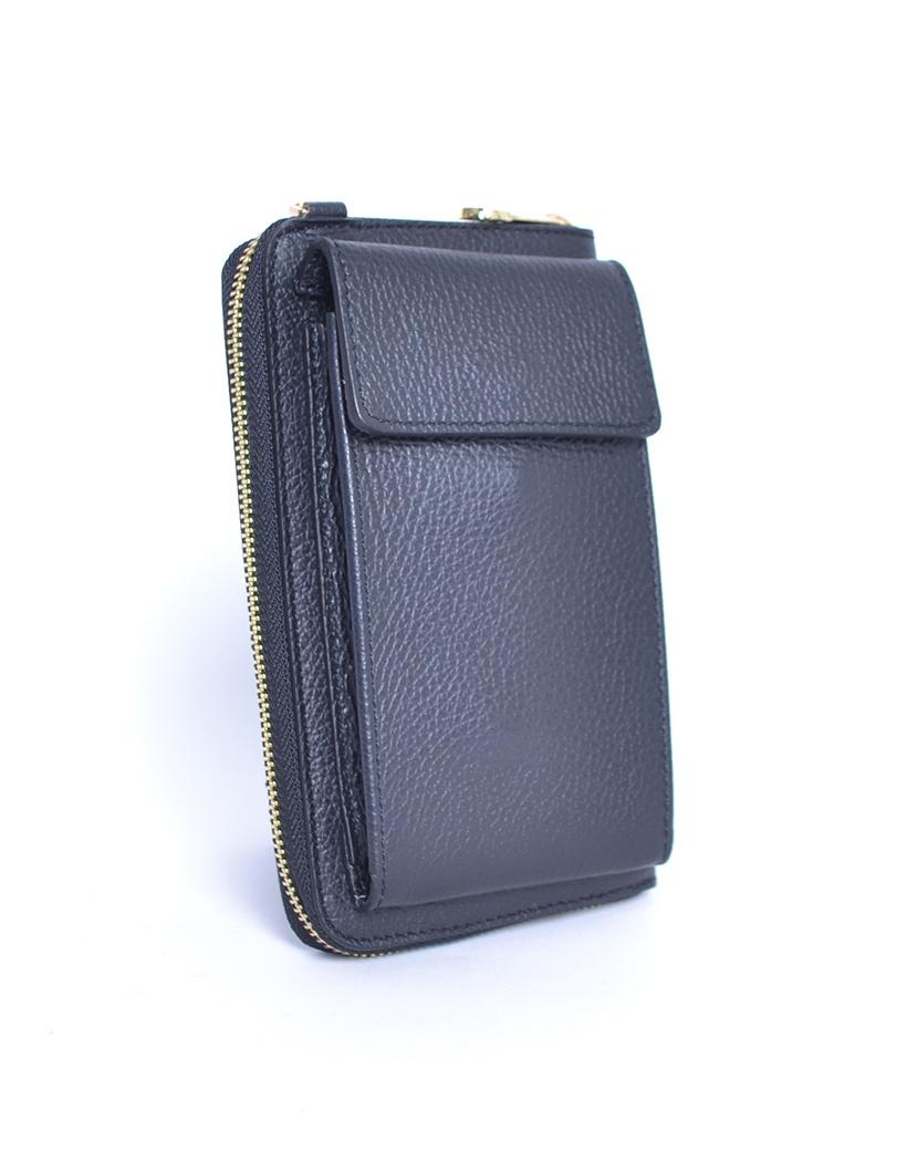 Leren-Telefoontasje-zwart zwarte portemonnee-schoudertasje-handige-giuliano-tas-kopen-bestellen-lederen-schoudertasjes-lang-2-vakken-leer