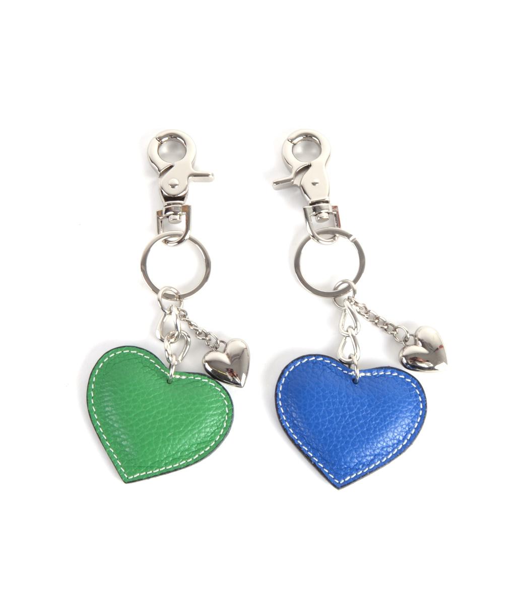 Leren-sleutelhanger-hartjes-blauw blauwe leder-leer tassen hangers zilveren-sleutel-hangers-online-bestellen