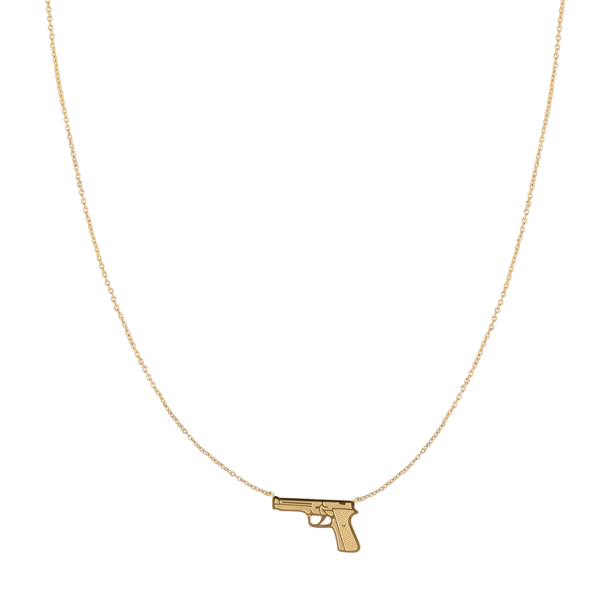 RVS Ketting Gun gouden dames kettingen pistool bedel sieraden necklages kopen bestellen festival yehwang