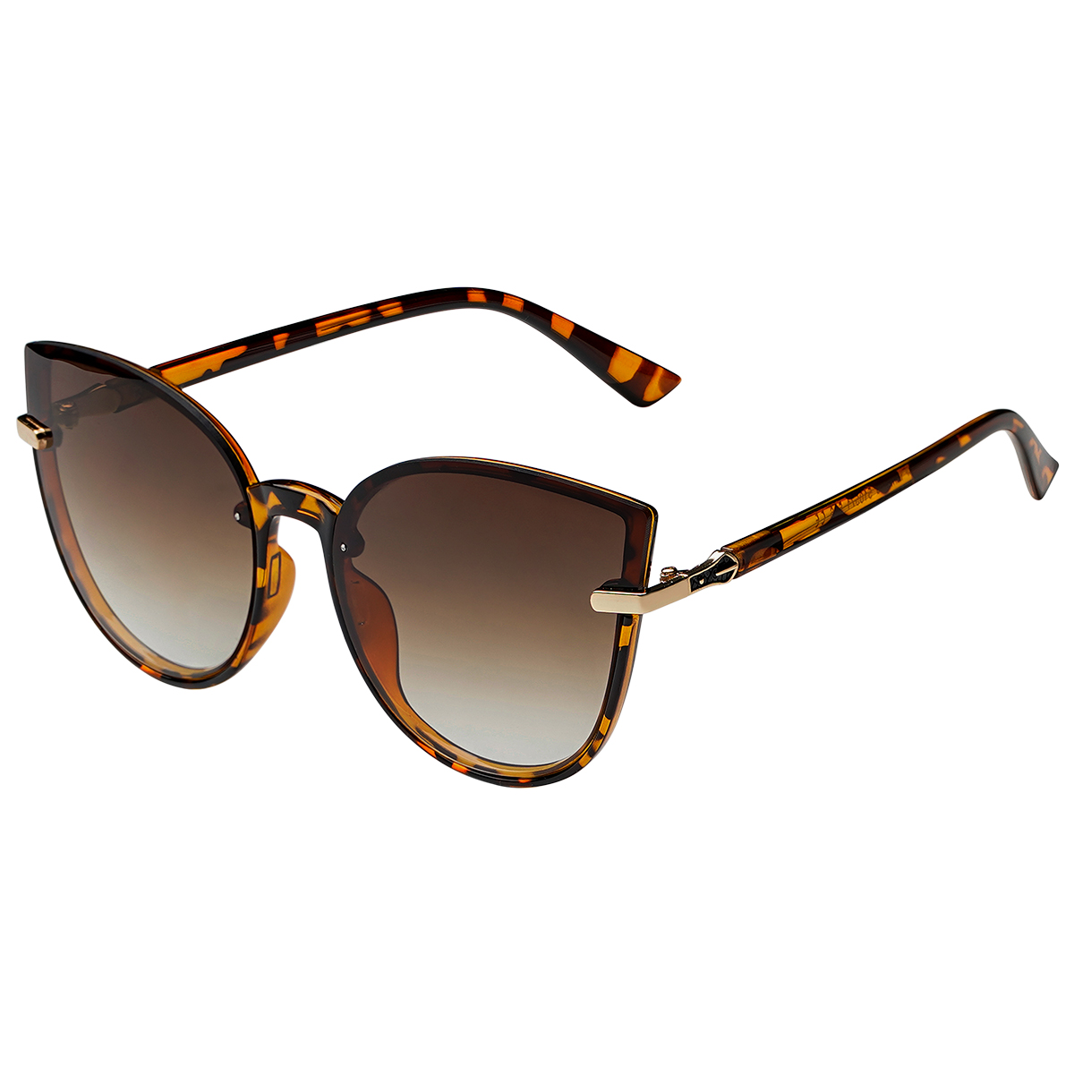 Zonnebril Cat Eye bruin bruine dames zonnebrillen gouden detail trendy festival brillen musthaves kopen bestellen yehwang