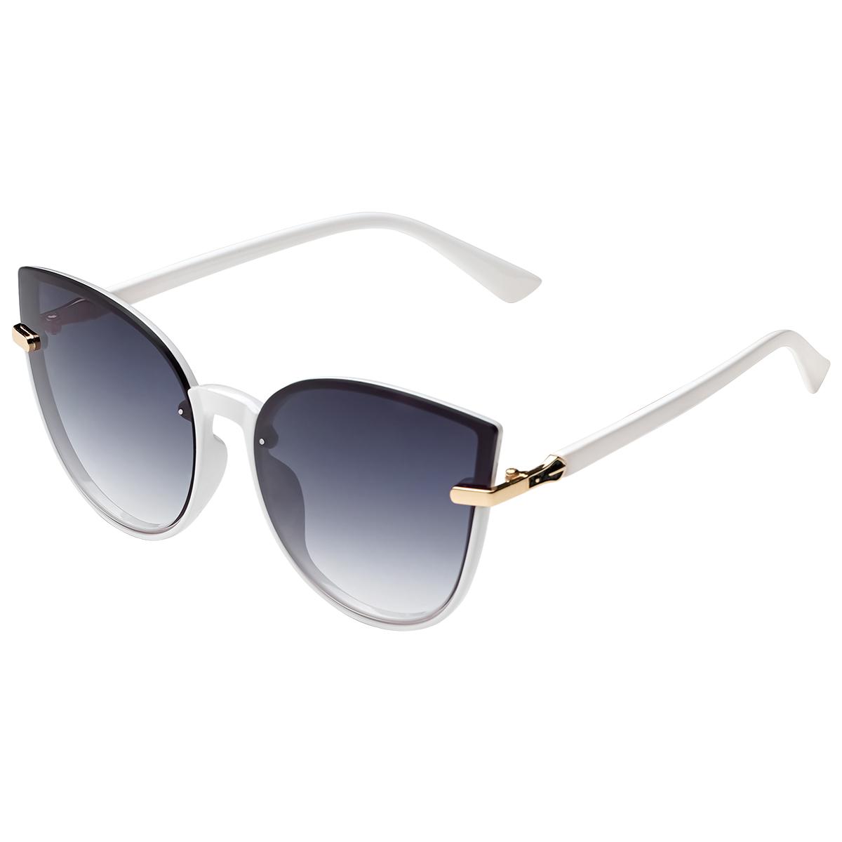 Zonnebril Cat Eye wit witte dames zonnebrillen gouden detail trendy festival brillen musthaves kopen bestellen yehwang